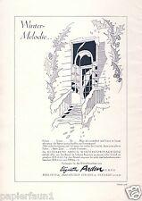 Parfum Sonnencreme Elizabeth Arden Reklame 1930 Werbung Falten Winter Melodie Ad