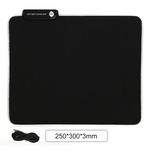 RGB Colorful LED Lighting Gaming Mouse Pad Mat for PC Laptop gf