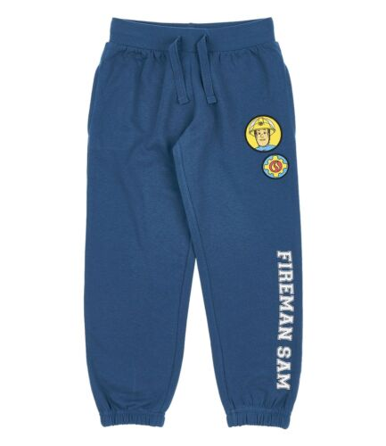 Jungen Sporthose Hose Kinder Jogginghose Feuerwehrmann Sam blau grau 98-128 #30