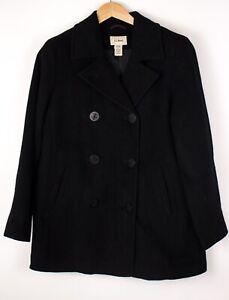 L.L.Bean Damen Freizeit Wolle Nylon Mantel Jacke Größe 10 ASZ967