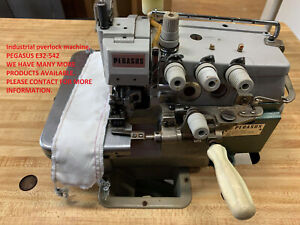 INDUSTRIAL PEGASUS E32 WITH 3/5 THREAD OVER LOCKER SEWING MACHINE.