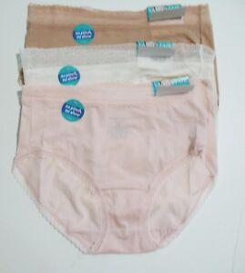 128d7c02771 3 Vanity Fair Flattering Lace Brief Panty Multi 13281 Sz 7 L - NWT ...