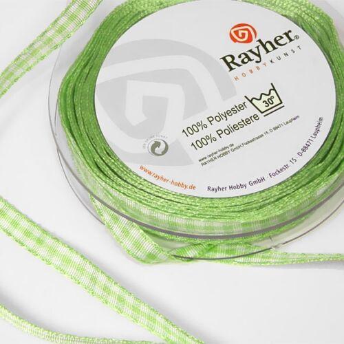 Bastelband Kariertes Band auf Rolle Geschenkband, 10m lang 6,3mm breit