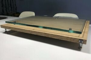 Turntable-Isolation-Levelling-Plinth-With-10mm-Glass-Floating-Shelf-LP12-Project