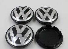 4 X 75mm Black Chrome Wheel Center Hub Caps Badge Emblem For VW VOLKSWAGEN