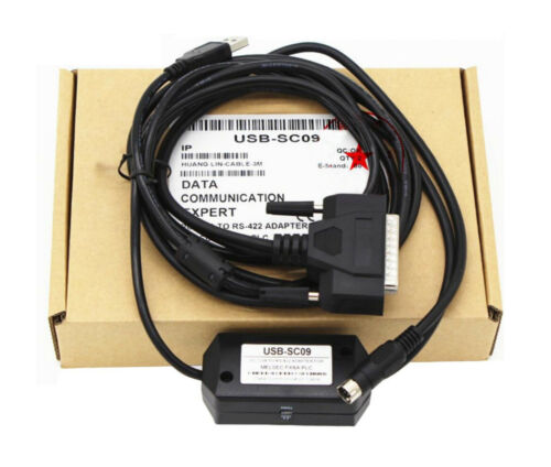 USB-SC09 USB to RS422 Adapter PLC Programming Cable for Mitsubishi Melsec FX/&A P