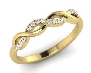 0-15ct-Round-Brilliant-Cut-Diamond-Half-Eternity-Wedding-Ring-in-9K-Yellow-Gold