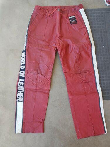 Rare vintage TROOP WORLD OF LEATHER red Leather Li