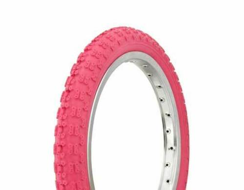 """1 BICYCLE TIRE 16/""""x2.125/"""" Pink Comp 3 Design DURO JOGGER BMX Bike Scooter"""