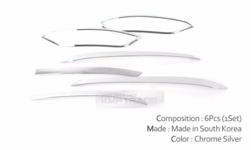 Fog Lamp Rear Reflex Lens Cover Chrome Molding Trim for HYUNDAI 2016-2018 Tucson