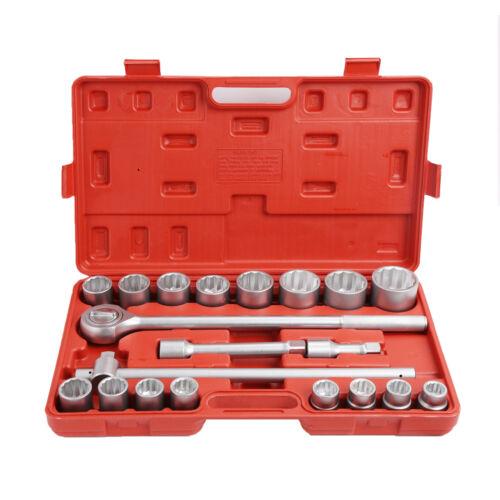 "Breaker Extension Bar US Stock 21PC 3//4/"" DR METRIC SOCKET Wrench Set Ratchet"