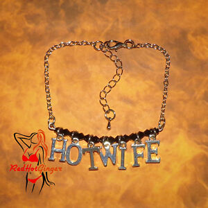 Hotwife-H-W-Hot-Wife-Anklet-Jewellery-Cuckold-Fetish-Swinger-BBC-Queen-Of-Spades
