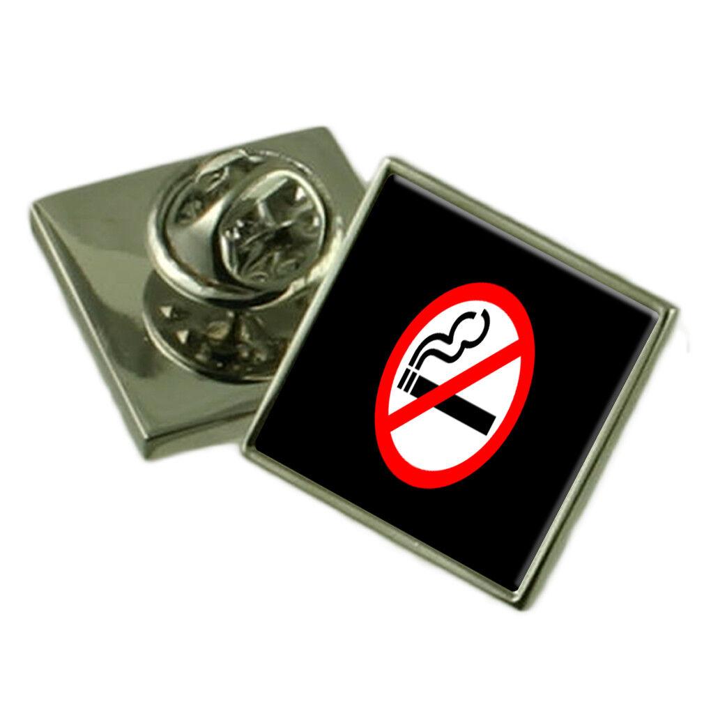 Insegna No No No Smoking Spilla per Bavero Astuccio Regalo 450f3b