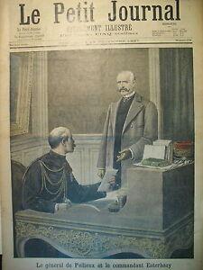AFFAIRE-DREYFUS-Gal-DE-PELLIEUX-Cdt-ESTERHAZY-PROCES-VAUX-LE-PETIT-JOURNAL-1897