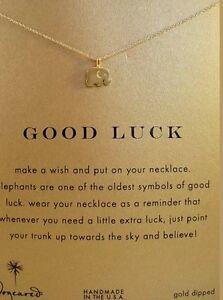 Dogeared-Gold-Dip-Good-Luck-Elephant-Reminder-16-034-Necklace