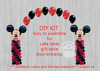 Disney Mickey Mouse Balloon Arch With Columns Birthday Party Decorations