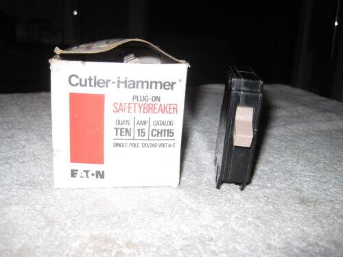EATON Cutler Hammer CH115 Circuit Breaker 1 P 15 Amp  METAL FOOT