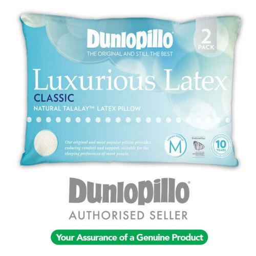 DUNLOPILLO 2 Pack Luxurious Talalay Latex Classic Medium Profile /& Feel Pillow