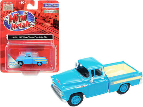 Classic Metal Works HO Scale 1957 Chevy Cameo Truck Alpine Blue 30571