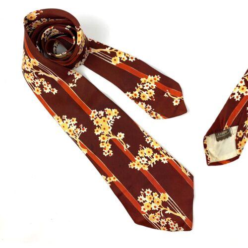 Red /& Blue Leaf Pattern Vintage 50s Swing Era Tie Necktie by Arrow