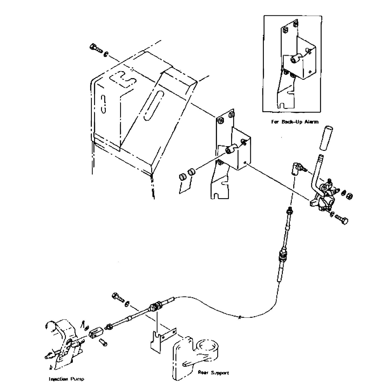 Komatsu D20 or D21 Throttle Cable Dozer Loader on