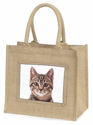braun Tabby Katzen Gesicht Große natürliche jute-einkaufstasche