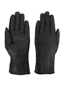 Giromy Samoni Womens Warm Winter Plush Lined Leather Driving Gloves - Black