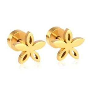 cb23936bc5a56 Details about Just Arrived! Toddler,Girls' 18k Gold Plated Screw-Back Stud  Earrings.