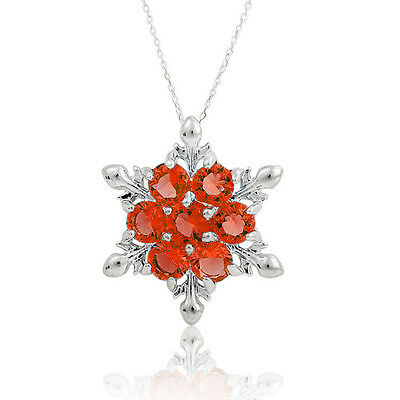 New Frozen 925 Sterling Silver Snowflake Flower Elegant Chain Necklace Pendant Q