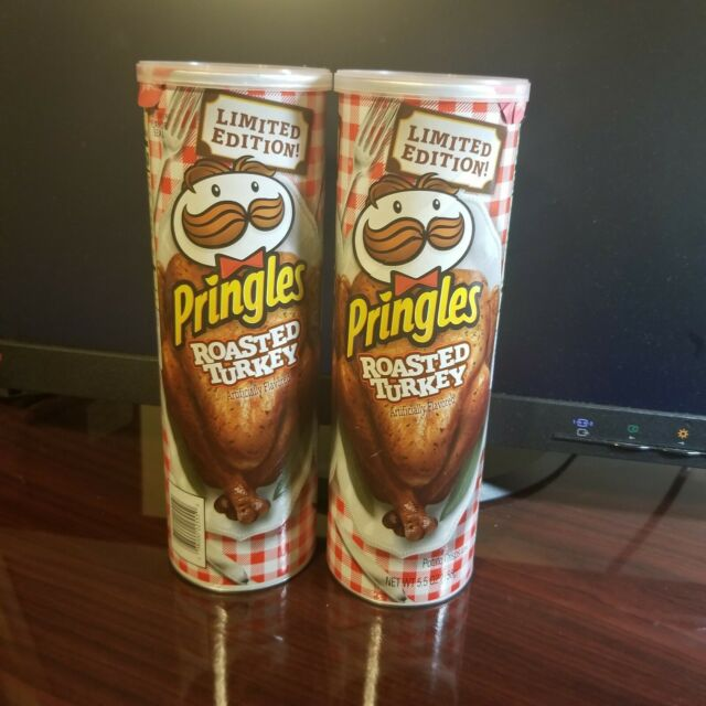 Pringles Roasted Turkey Potato Chips Thanksgiving Limited Edition Can Lot of 2