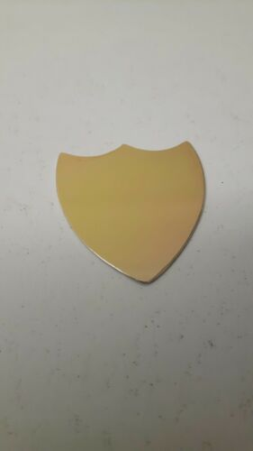 Trophy sheild engraving plate 35 x 40mm gold plated