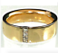 thumbnail 1 - Mens Gold Plated Band Ring Chunky Cubic Zirconia  Accent 8,10,11 Fashion Ring