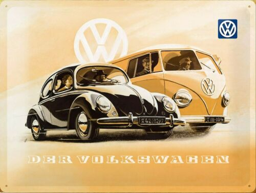 Volskwagen Retro replica style metal tin sign gift Shed Garage