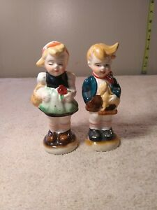 ANTIQUE-OCCUPIED-JAPAN-BOY-amp-GIRL-CHILDREN-SALT-PEPPER-SHAKERS