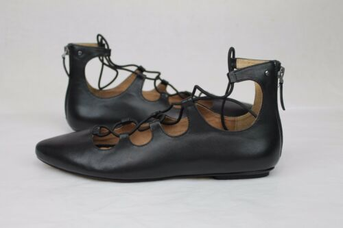 5 Black Us 190108072006 Australia Lace Lorianna Flats Size Leather Ugg 6 E8zFqq