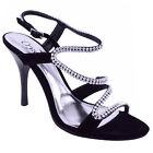 Sandales Chaussures Femme Strass Talon Haut Cérémonie Mariage Soirée