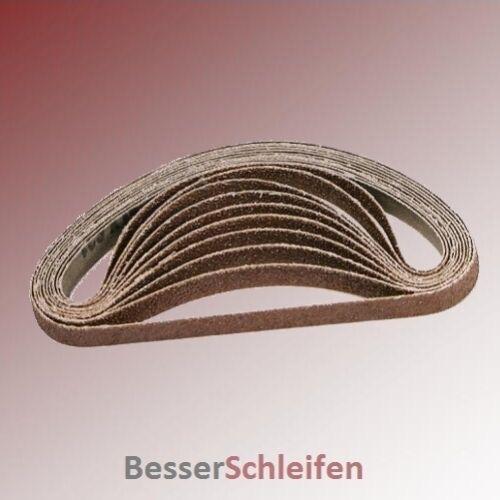 10 Schleifbänder Schleifband 25x762 mm Körnung P120 Gewebebasis