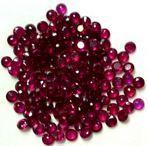 4X4MM ERR15 Synthetic Lab Created Ruby Corundum Round AAA Loose Gemstones