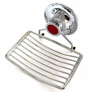Stainless Wire Soap Dish Tray Vacuum Suction Cup Holder