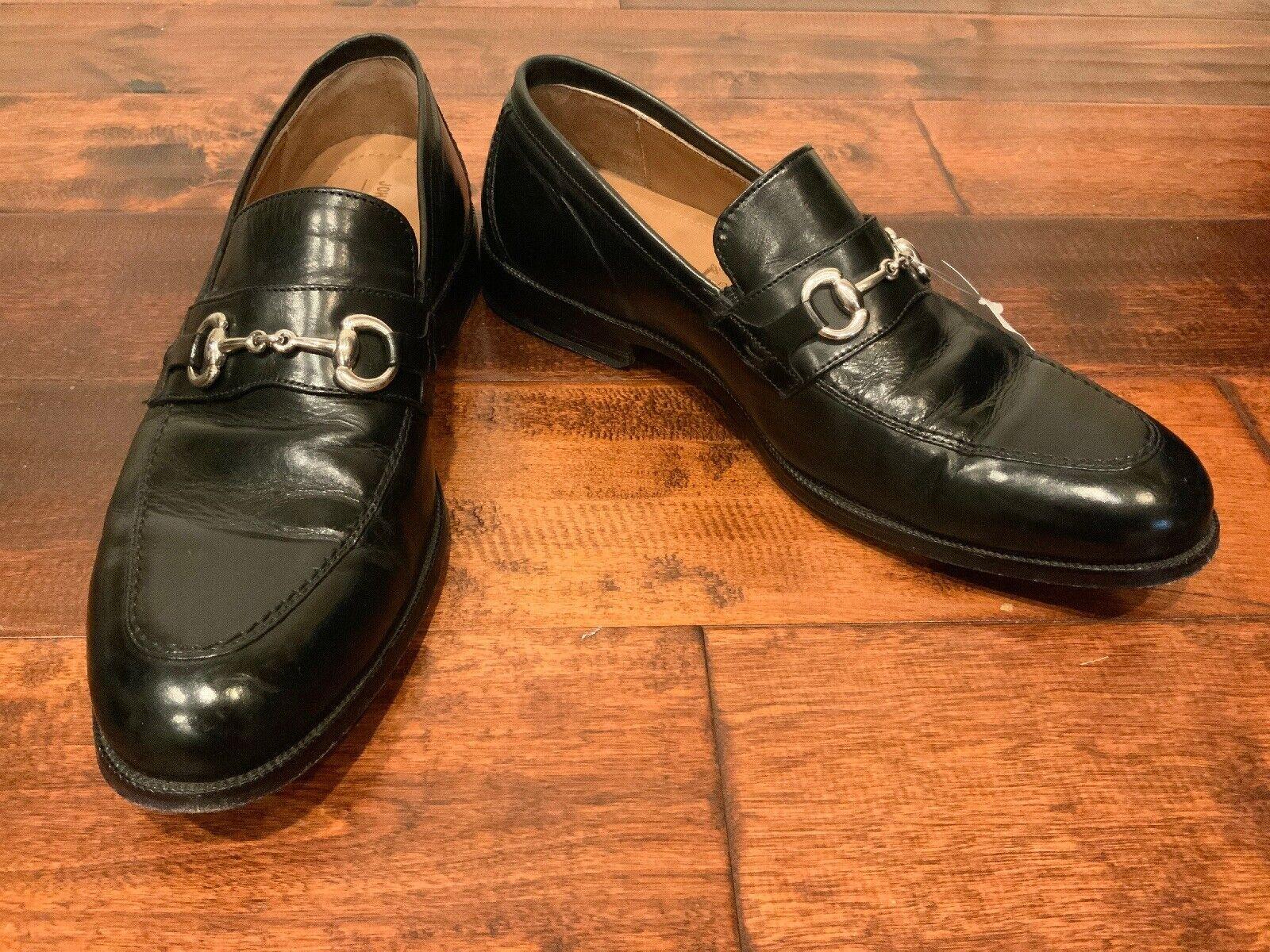 Johnston & Murphy Signature Series Black Neilson Bit Loafers, Size 10