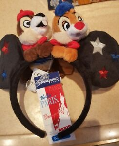 E18 Serre-tête / Headband TIC TAC / Chip Dale PARIS Disneyland Paris