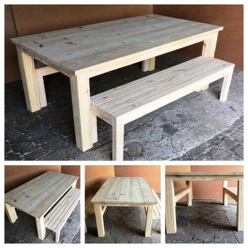 Patio table Chunky Cottage series 2000 Combo 5 - Raw