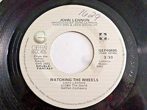 John-Lennon-Watching-The-Wheels-Yoko-Ono-Yes-I-m-45-1980-Geffen-Vinyl-Record