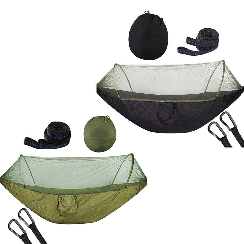 2pcs amaca esterna appesa letto con tenda da campeggio altalena tenda da