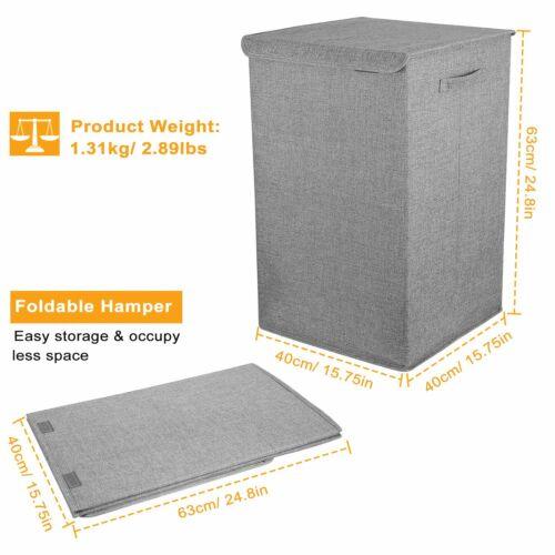 Large Capacity Laundry Basket Clothes Bag Bin Hampers Fabric Hamper Foldable USA