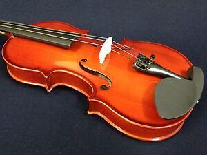 Caraya 1/4 Size Acoustic Violin w/Bow,Chin Rest,Rosin,Bridge,Foam Case-Full Set