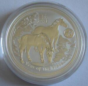 Australien-1-Dollar-2014-Lunar-II-Pferd-Loewe-Privy-1-Oz-Silber