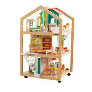 So-Stylish-Mansion-Dollhouse-with-Furniture-amp-42-Piece-Accessory-Set-by-KidKraft