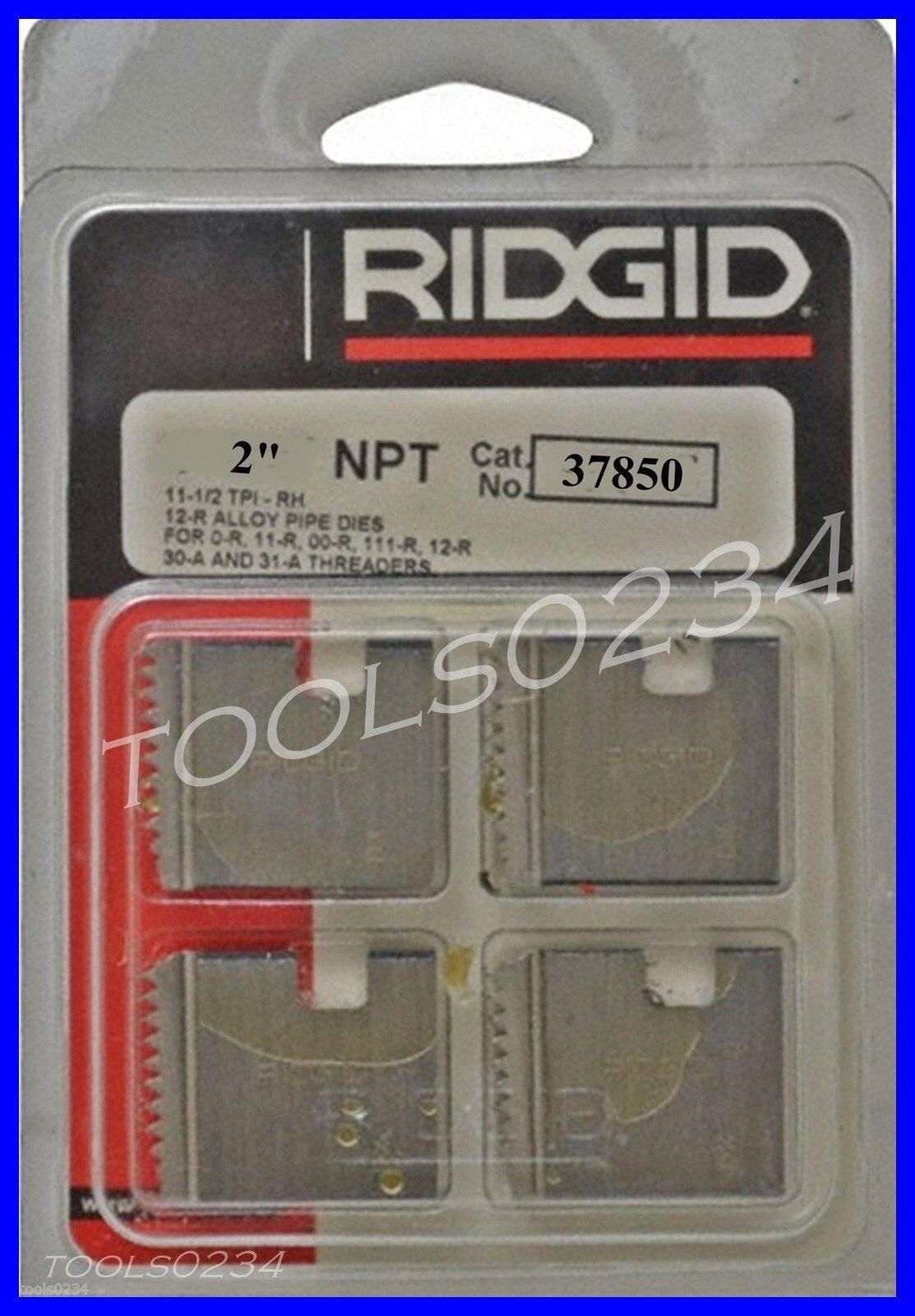 Ridgid 37850 Pipe Threading Dies SET 2