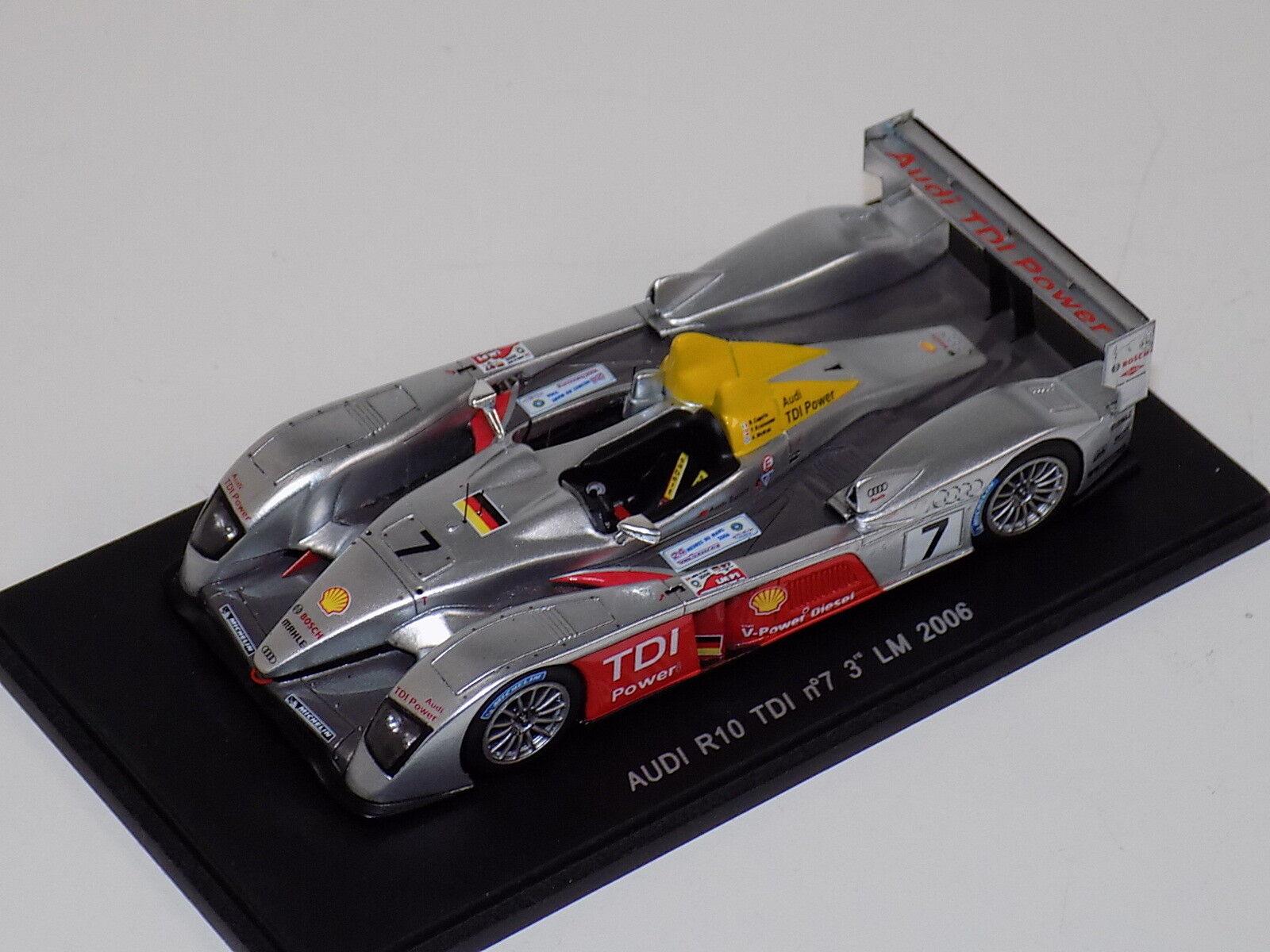 tienda de bajo costo 1 43 43 43 Spark Audi R10 TDI COCHE  7 3rd en 2006 24 horas de LeMans S0675  productos creativos